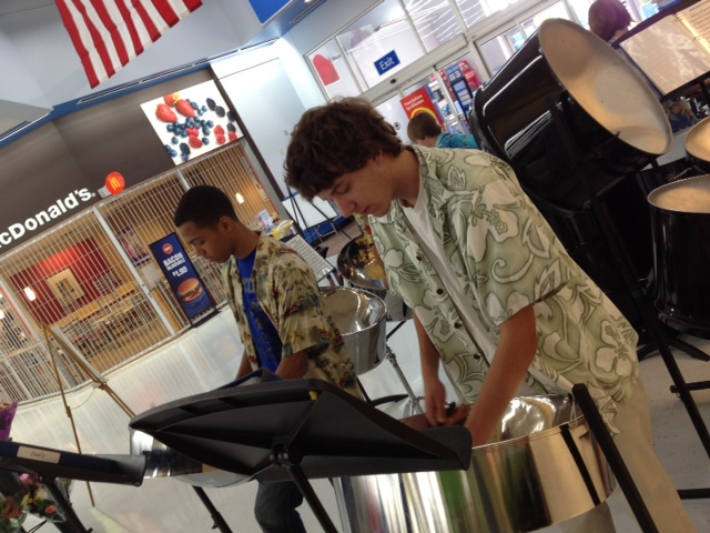 PHHS Steel Drum Band performs at Perry Hall Walmart Grand Reopening (6.13.12)